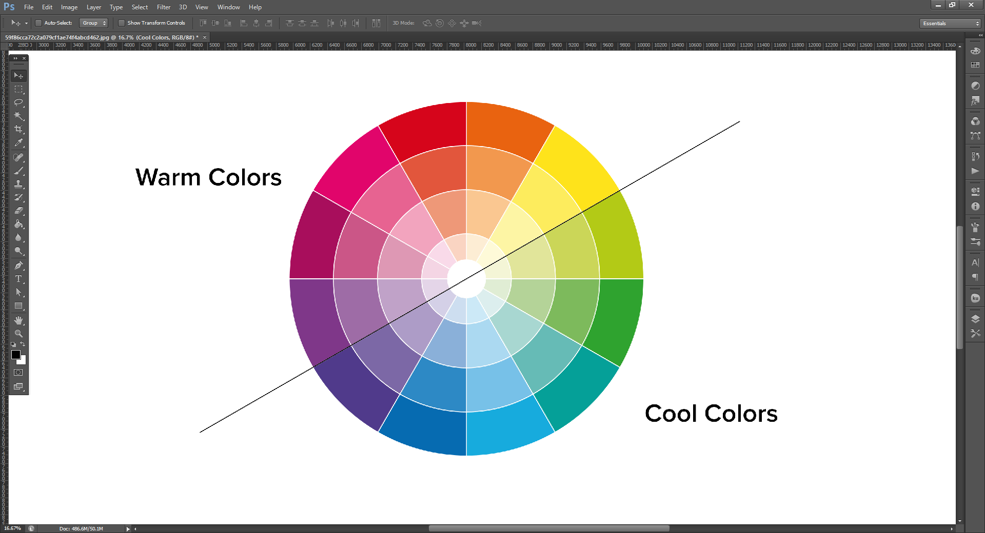 You Will Notice That In This Image Of The Color Wheel There Is A Line Between And Was Labeled Warm Colors Cool